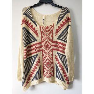 Seven7 UK Flag Dropped Shoulder Sweater